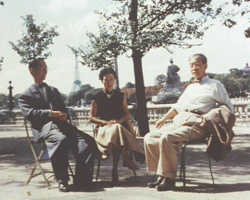 Yoshikata_Yoda,_Kinuyo_Tanaka,_Kenji_Mizoguchi_-_in_Paris,_1953